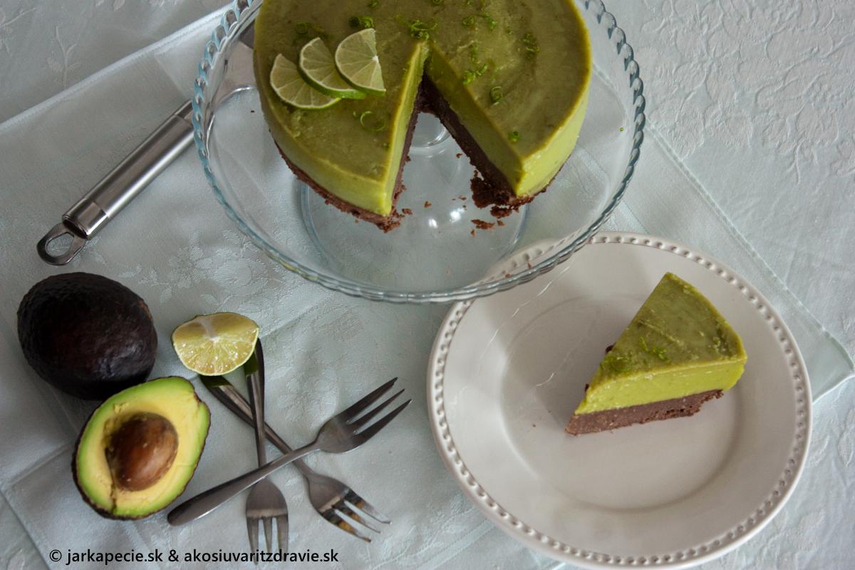 Avokádový cheesecake – bez lepku a laktózy