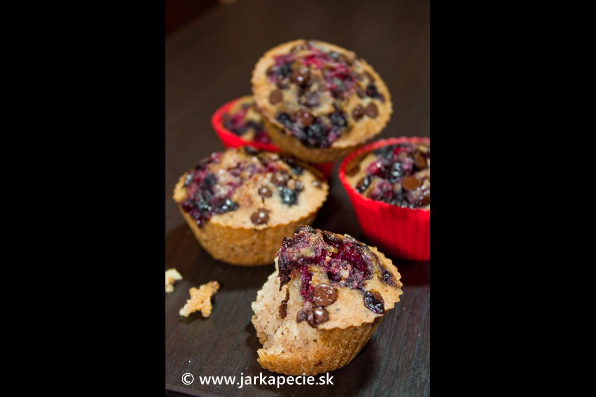 Muffinky sovocím – bez lepku, vajec aaj laktózy