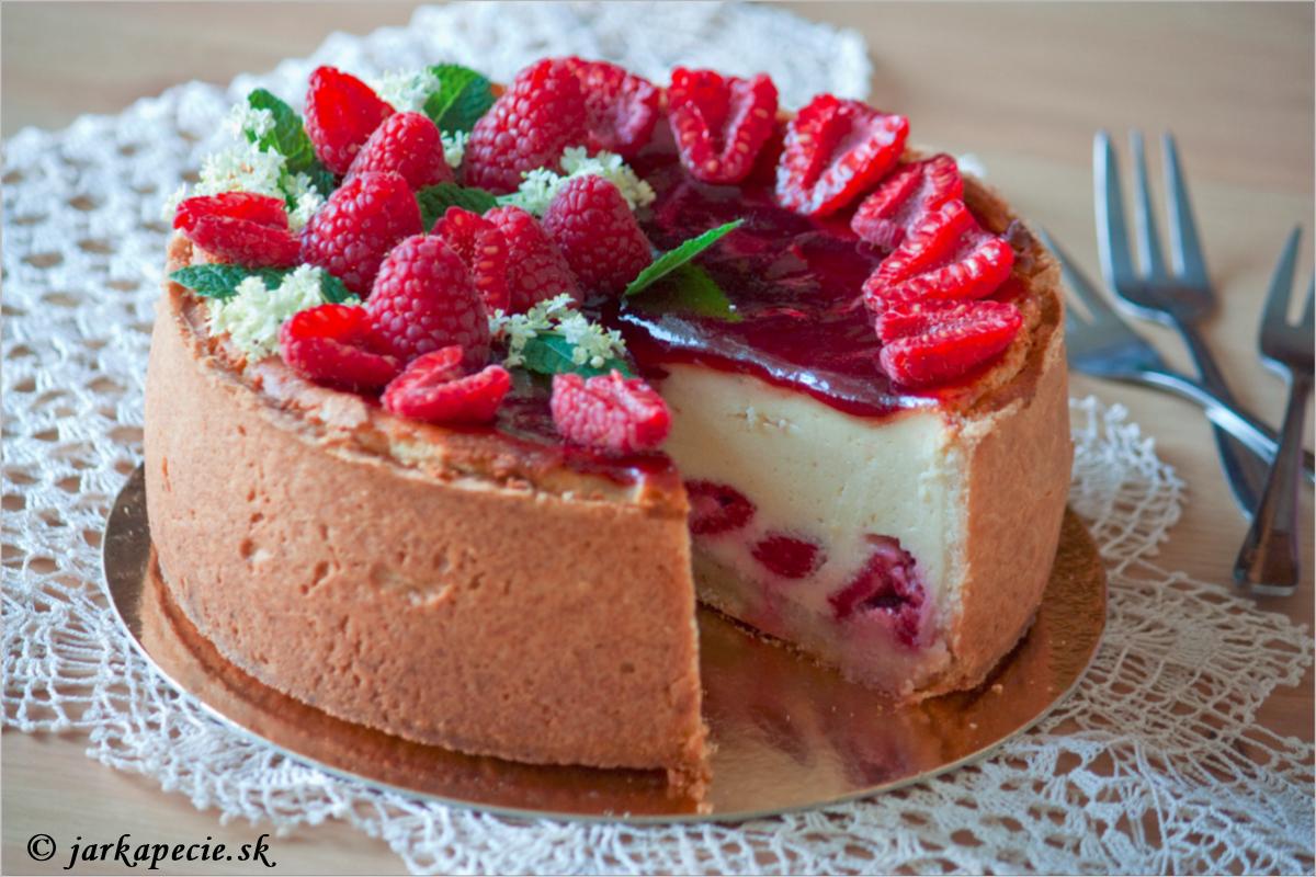 Malinový tvarožník – cheesecake