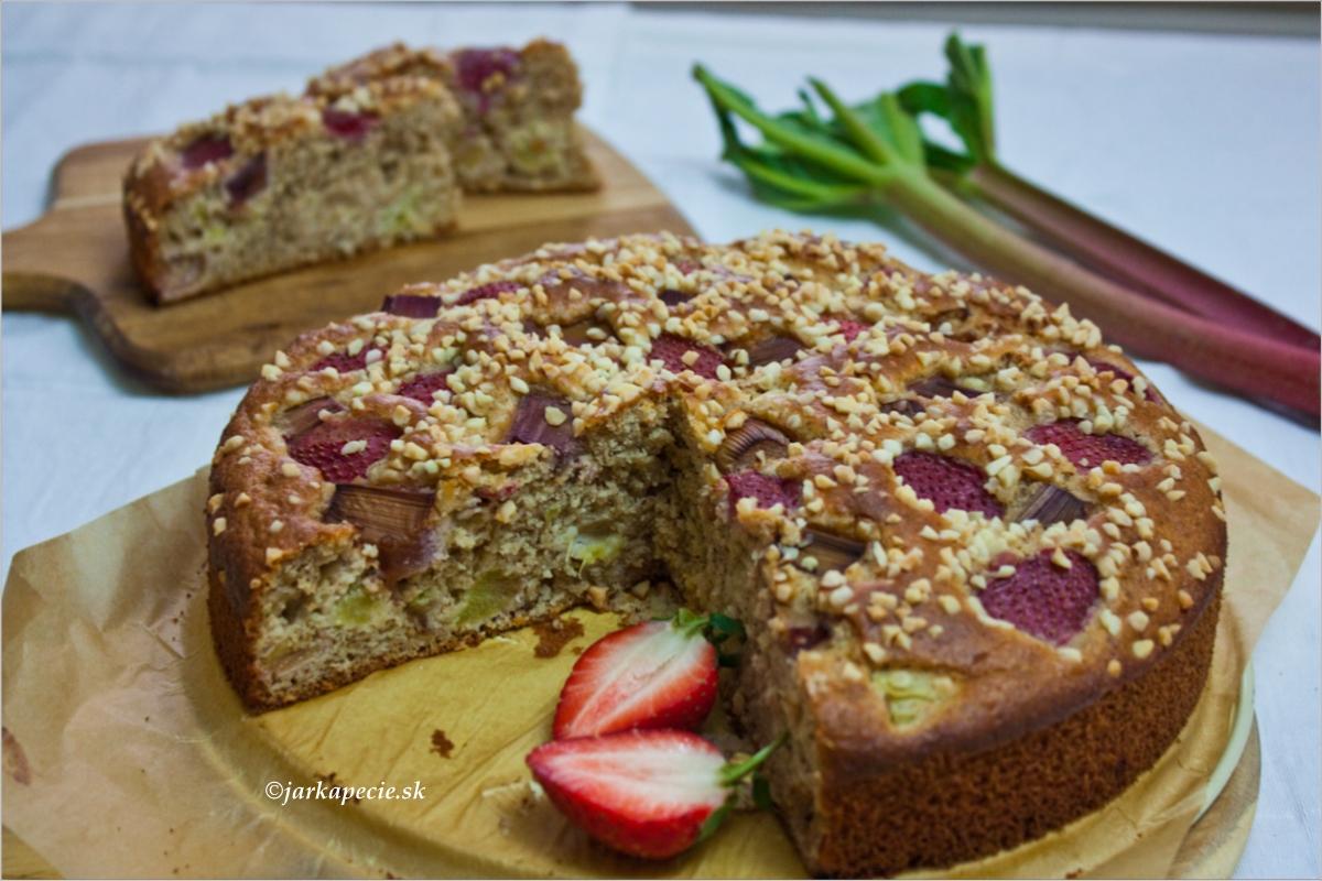Rebarborový koláč – bez lepku